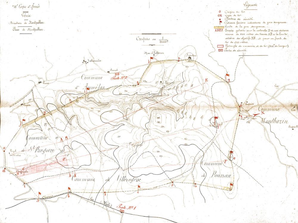 plan du champ tir de 1913