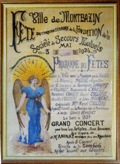 Affiche secours mutuel 3 mai 1924
