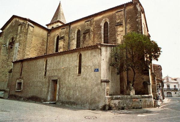 Montbazin église et statue du Belge
