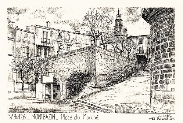 Montbazin pl marche dessin