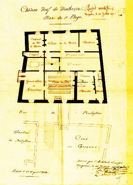 chateau neuf : projet d'aménagement de classes à l'étage