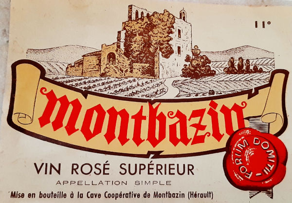 Vin rosé, avec mention de Forum Domitii, appelation romaine de Montbazin