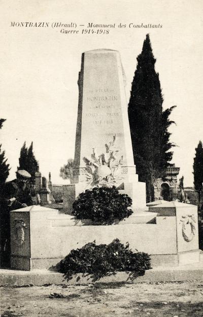 le monument aux morts de Montbazin