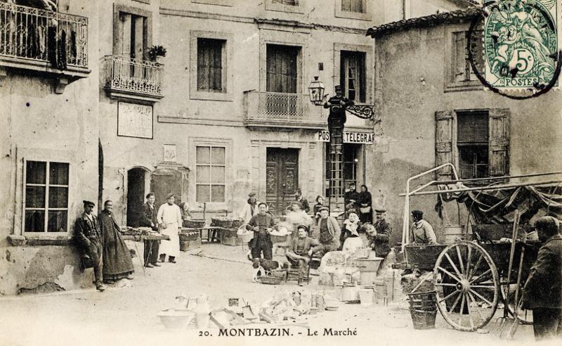 Montbazin : le marché & la poste