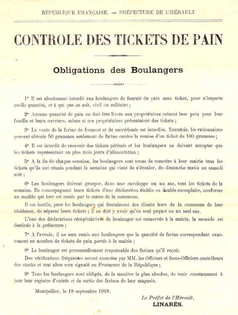 controle tickets pain