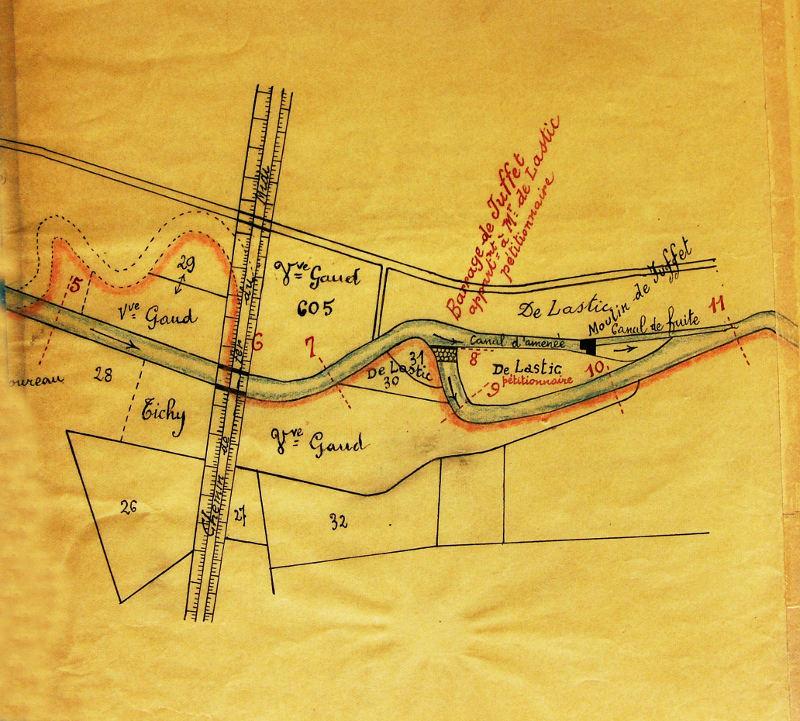 plan du barrage de Juffet