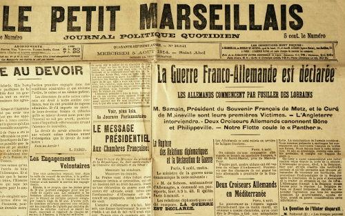 Le petit Marseillais - 5 août 1914