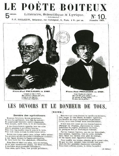 """couverture de la revue """"le poète boiteux"""""""