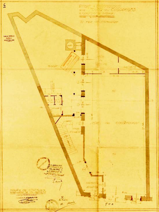 foyer des campagnes : plan du rez-de-chaussée