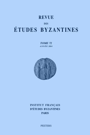 Revue Etudes Byzantines