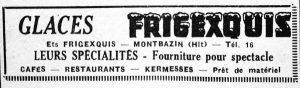 """publicité """"frigexquis"""", Midi Libre du 7 mars 1957"""