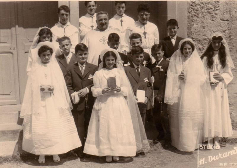 les communiants en 1958