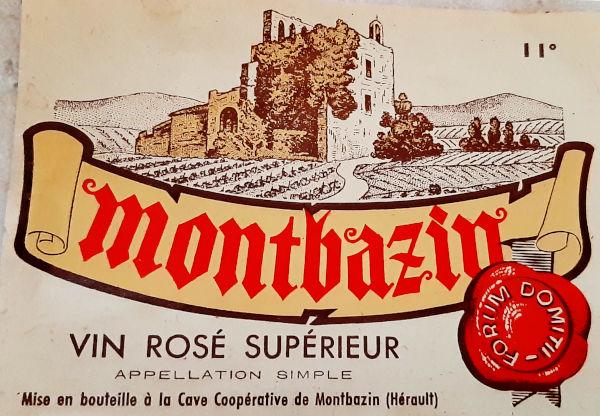 Vin rosé, avec mention de Forum Domitii, appelation romaine de Montbazin